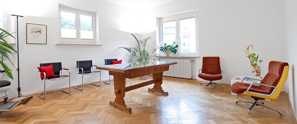 Wartebereich, Zahnarztpraxis Ascher, München Bogenhausen